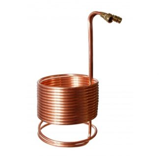 Immersion Wort Chiller Copper 1/2 in. x 50 ft. with Brass Fittings