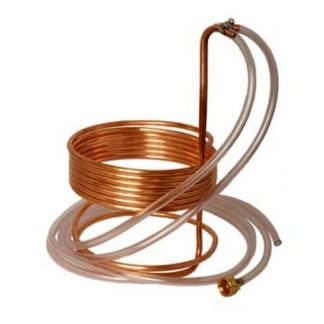Immersion Wort Chiller Copper 3/8 in. ID x 25 ft. with Tubing