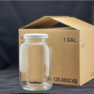 wide-mouth glass jar 1 gal. Case of 4