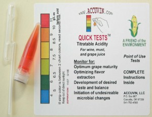 "Accuvin ""Quick Tests"" for Titratable Acidity"
