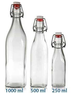 Clear Flip Top Bottle 500ml 16oz Case