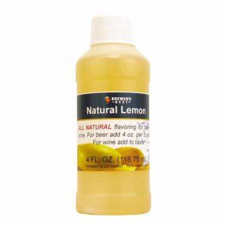 #1705-M-1 Natural Lemon Flavoring Extract 4 oz