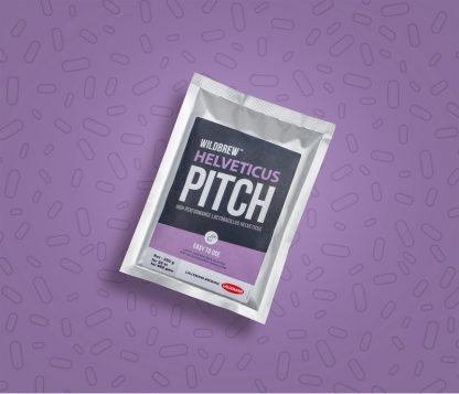 A vacuum-sealed pack of Lallemand's Helveticus Pitch dry brewing bacteria.