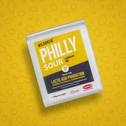 A vacuum-sealed pack of Lallemand's Philly Sour dry yeast.