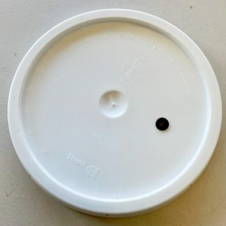 Plastic Lid with Airlock Hole fits 6 Gallon Bucket