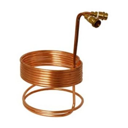 Immersion Wort Chiller Copper 3/8 in. ID x 25 ft. with Brass Fittings