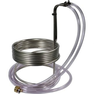 Immersion Wort Chiller Stainless Steel 3/8 in. ID x 25 ft. with Tubing